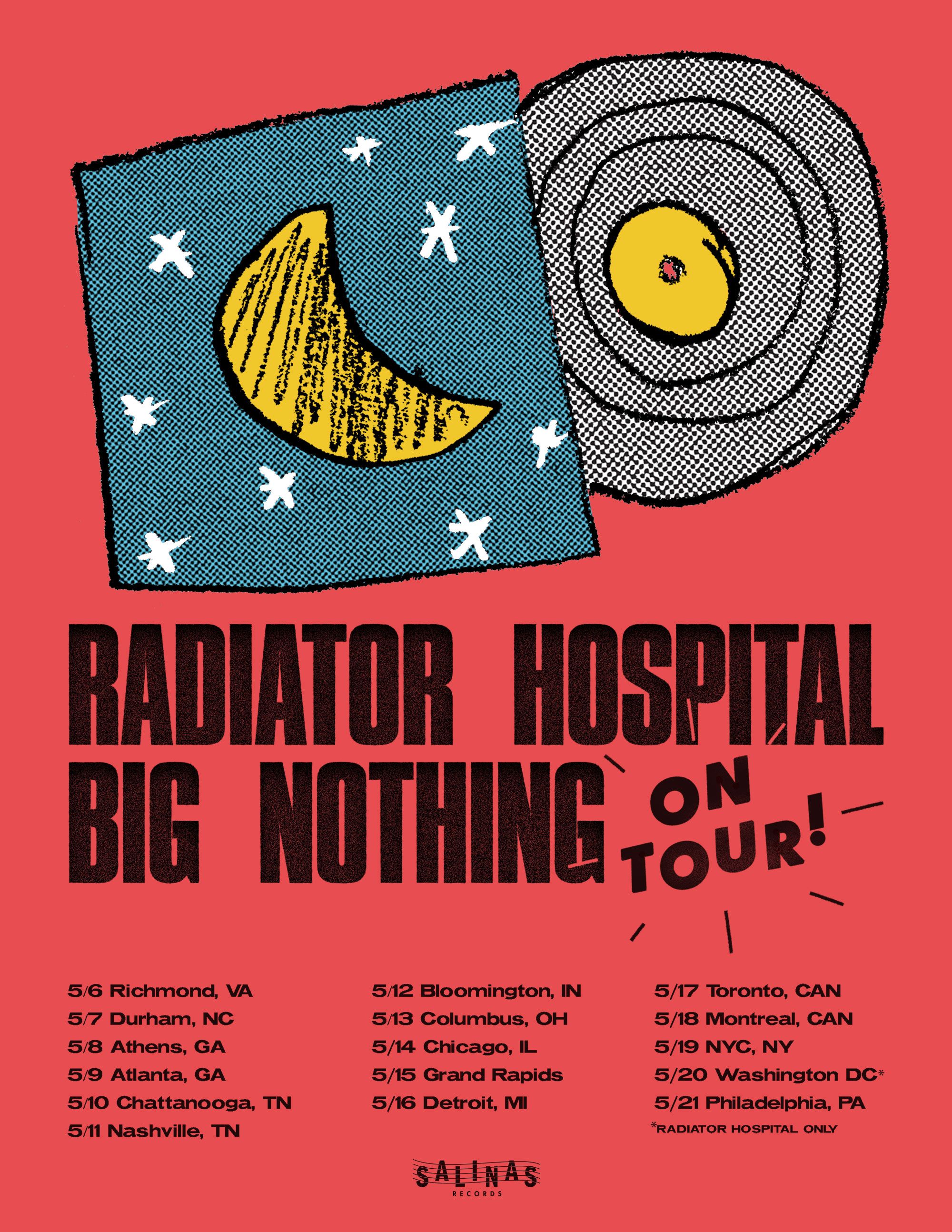 radiator-hospital-big-nothing-may-2019-tour-poster - The