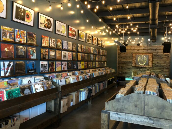 Picture of the inside of a record shop